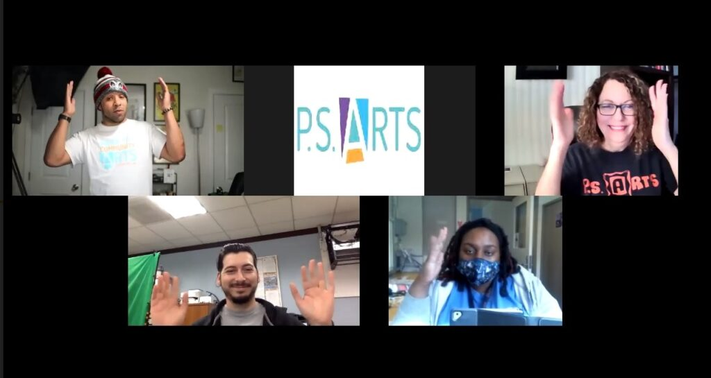 P.S. Arts zoom meeting Inside Out Community Arts at Loma Alta