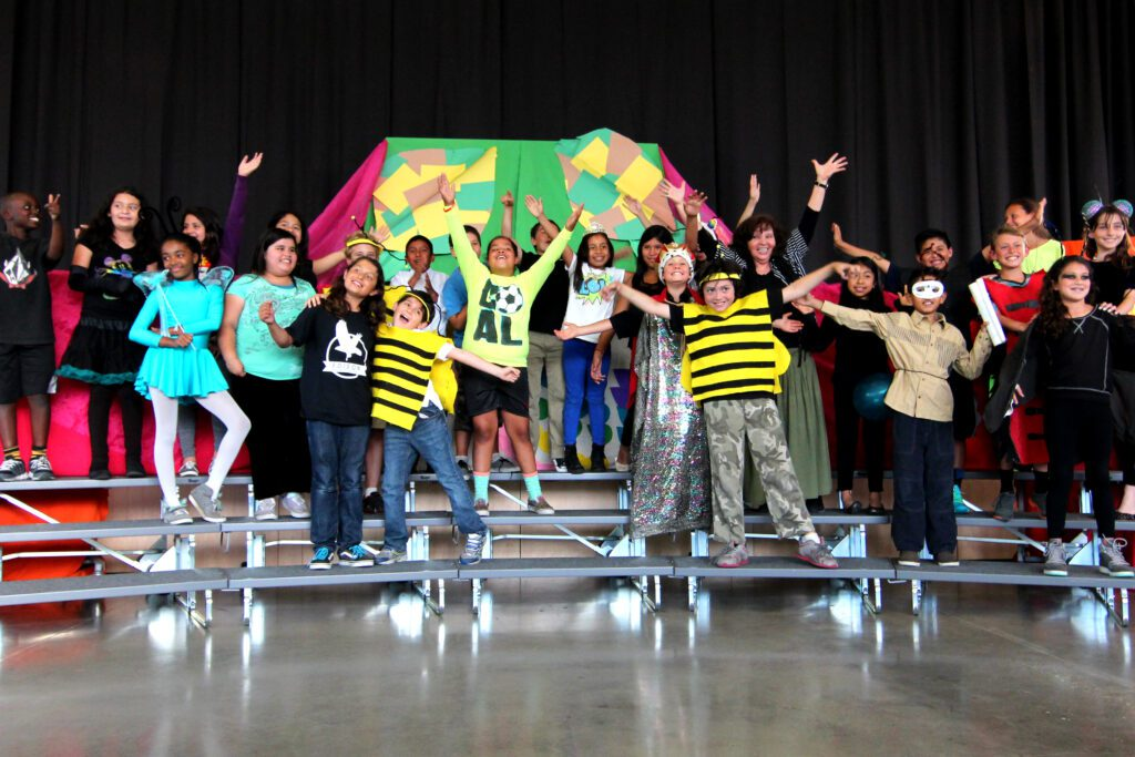 P.S. Arts Student Performance at Edison Language Academy (SMMUSD) directed by P.S. ARTS Theater Teaching Artist Martha Ramirez-Oropeza.