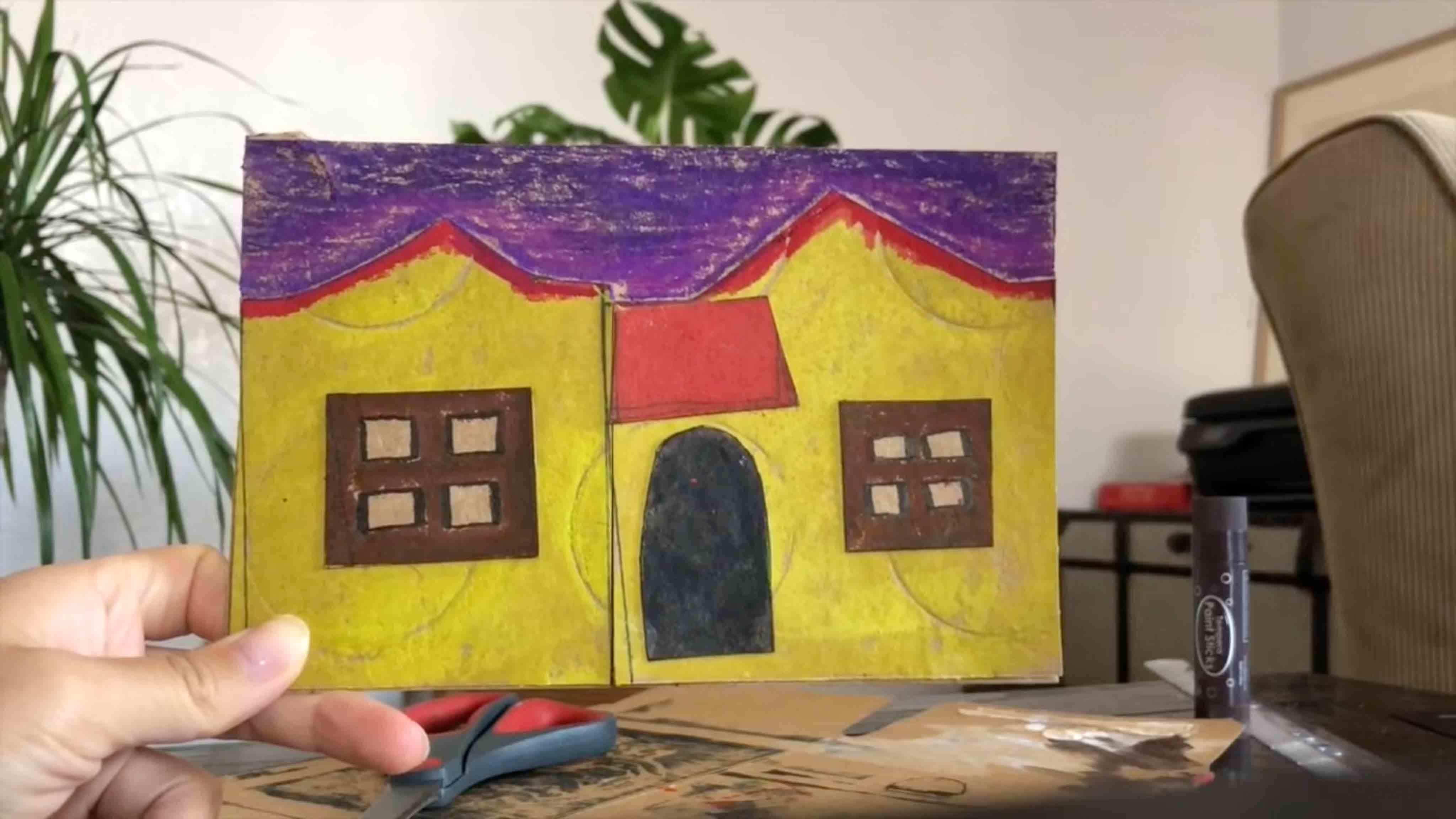 P.S. Arts Visual Arts Card board Houses