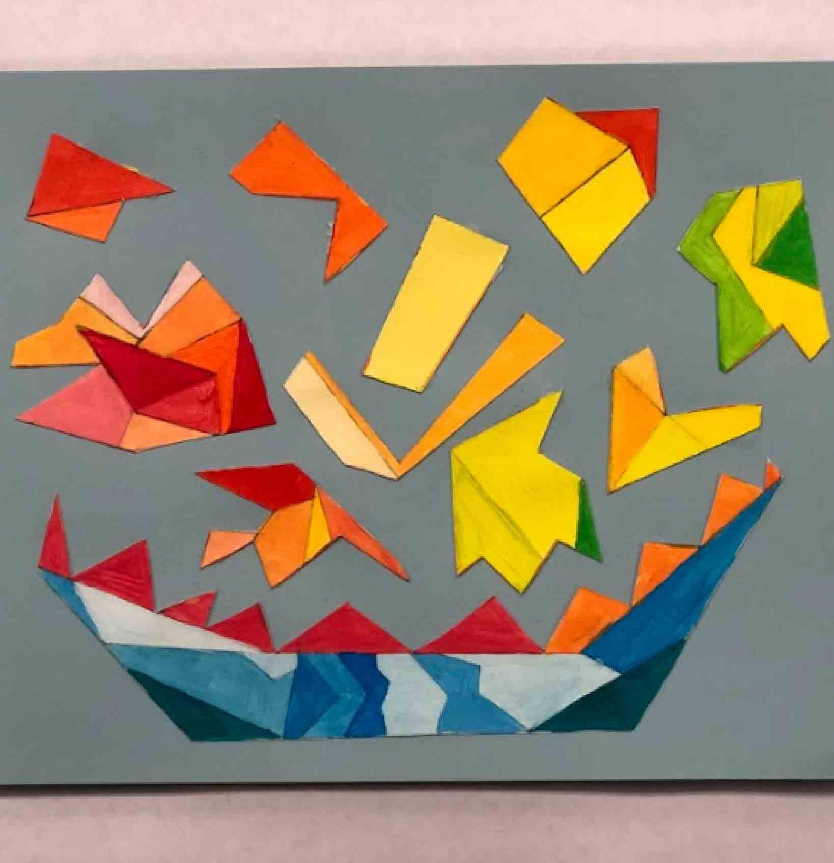P.S. Arts Visual Art Geometric Shape Collage